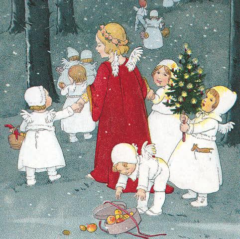 Alte Weihnachtspostkarte